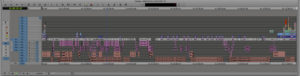 Graphical timeline of an Avid edit