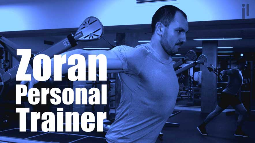Personal trainer video showing Zoran using a functional trainer