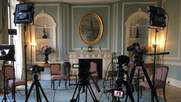 Streaming video production at Embassy of Ireland